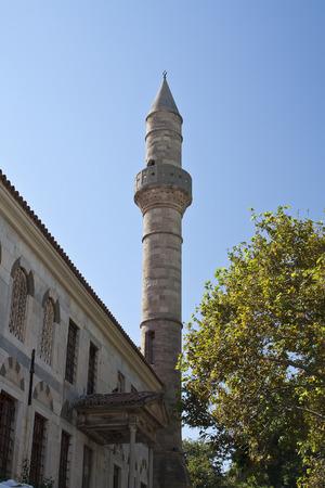 minaret dans la ville de Kos; Grèce