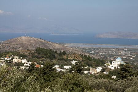 Sceneric vue de Zia, Kos; Grèce