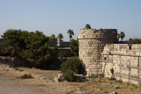 Château dans la ville de Kos; Grèce Banque d'images