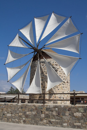 kos: Windmill in Antimahia, Kos; Greece Stock Photo