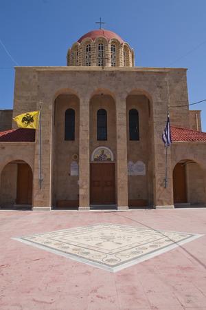 Church in Kos town, Greece 版權商用圖片