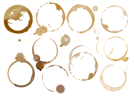expresso: Watercolor coffee stains