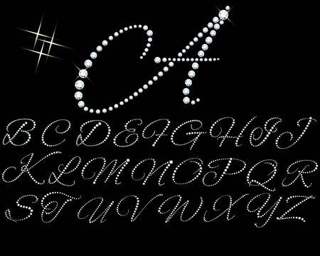 Alphabet de diamants