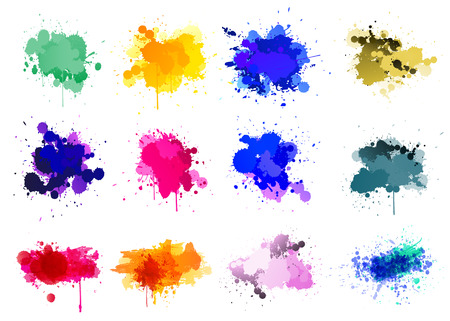 Bunte Farbe splatters Standard-Bild - 72796411