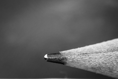close-up on grey un-sharpened pencil-tip Stock Photo