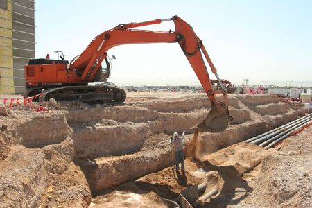 Excavator Back Hoe Banco de Imagens