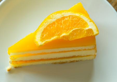 orange cake: orange cake Stock Photo
