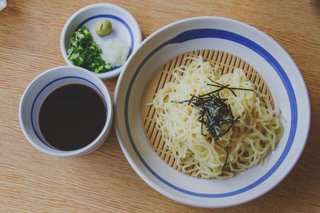 soba: Soba, japanese noodle style.