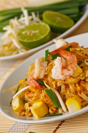 Thai stir-fried rice noodles (Pad Thai) photo