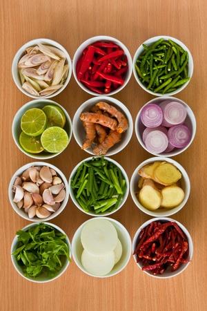 saludable: Comida tailandesa ingredientes