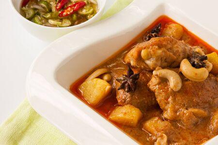 Thai food, Chicken massaman curry  photo