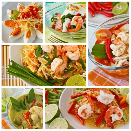 thailand fruit: Collage from  Photographs of thai food
