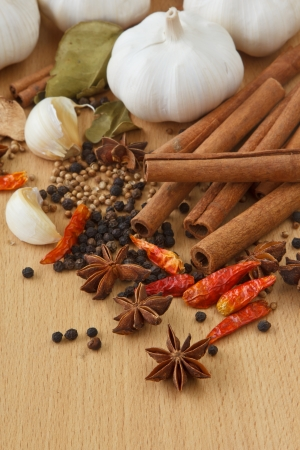 red indian: Variety of Spices and herbs,Food and cuisine ingredients  Stock Photo