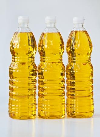 plastico pet: El aceite de palma en botellas de PET Foto de archivo