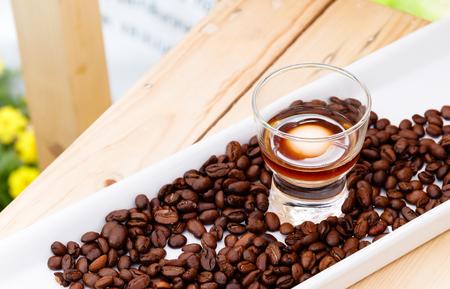 Molecular Gastronomy Food,  Cold brew coffee with Milk sphere (Frozen Reverse Spherification Recipe.)