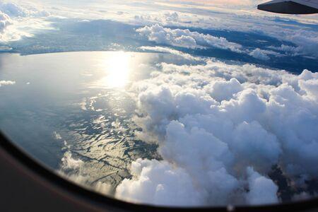veiw: Veiw from airplane window Stock Photo