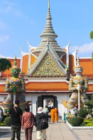 titan: Statue of demon Giant, Titan at Wat Arun Editorial
