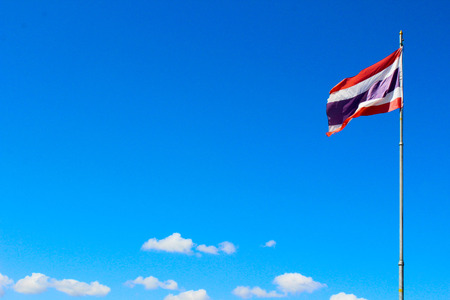 thai flag: Thai flag with blue sky