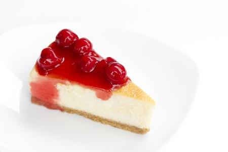 cherry cheesecake  photo