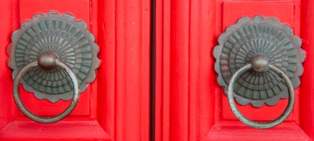 Red chinese door  photo
