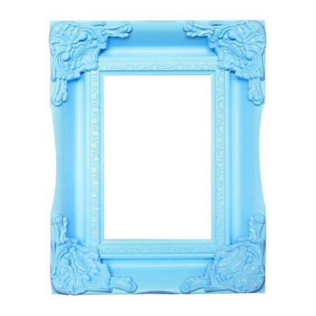 blue  picture frames photo