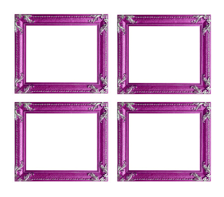 Four pink picture frames photo
