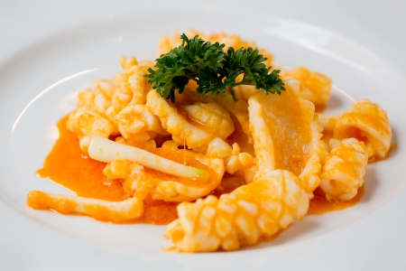 fried squid with curry powder photo