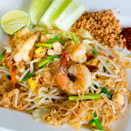 Thai style noodles photo