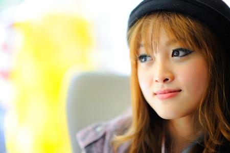 chicas guapas: Hermosa muchacha asiática Foto de archivo