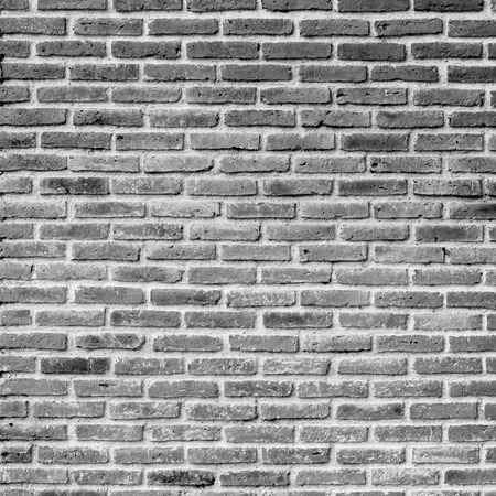 blanche: black and white brick wall Stock Photo