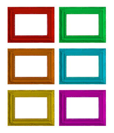 photo frames on the white Фото со стока - 30580015