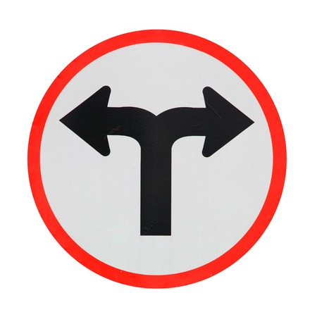 bifurcation: Crossroads sign