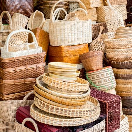 bamboo basket Фото со стока - 33024371