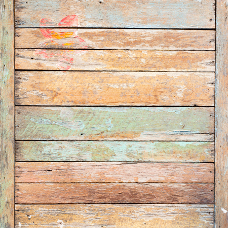 antique wood: old painted wooden wall