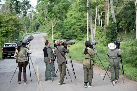 oudoors: Bird Photographer in Kaeng Krachan National Park on 26 th May 2015 Editorial