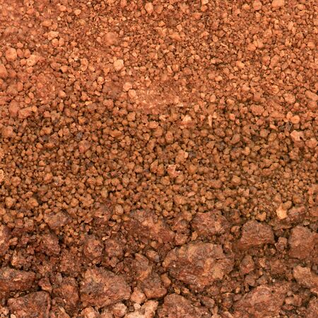 red soil: Layer of soil underground Stock Photo