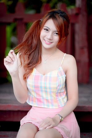Beautiful asian girl Stock fotó