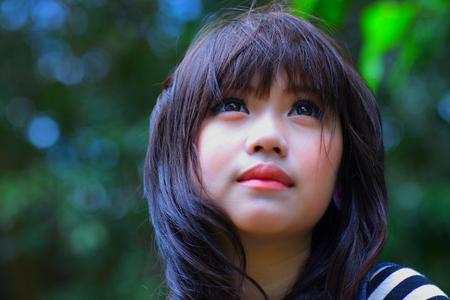 A shot of a beautiful asian woman outdoor Stock fotó