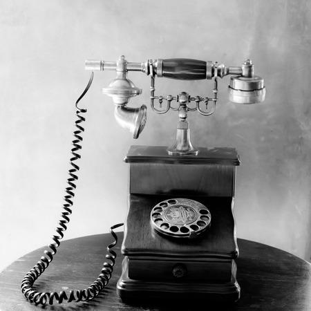 telephone: Vintage old telephone Stock Photo
