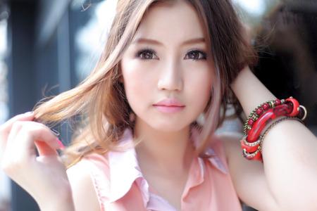 Beautiful asian girl Фото со стока - 44704875