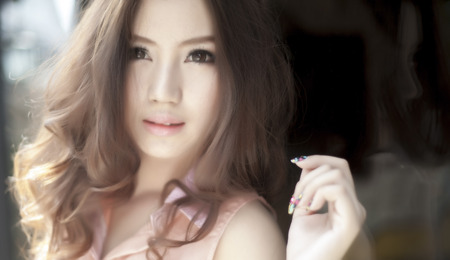 asian youth: Beautiful asian girl Stock Photo