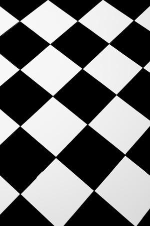 checker: Checkered texture 3d background Stock Photo