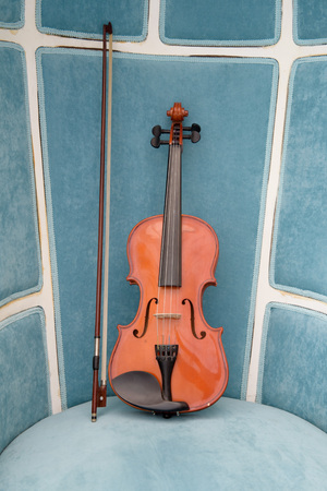 fiddles: Violin on the leather