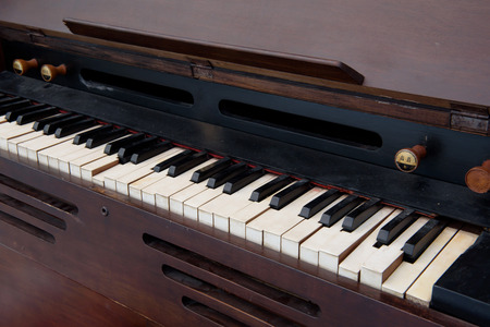 filth: Old wooden piano Stock Photo
