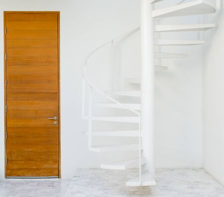 white metal: white metal spiral staircase
