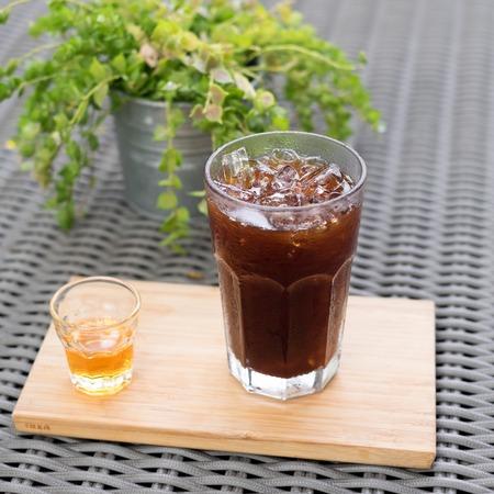americano: Ice americano drink