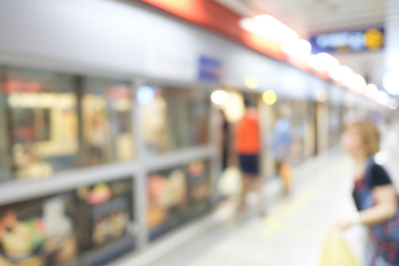 blur subway: abstract blur people in subway Stock Photo