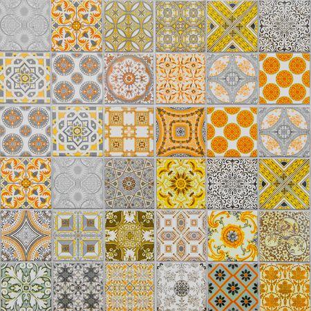patrones de azulejos de cerámica Foto de archivo
