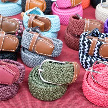 fastening objects: belt woman in the market