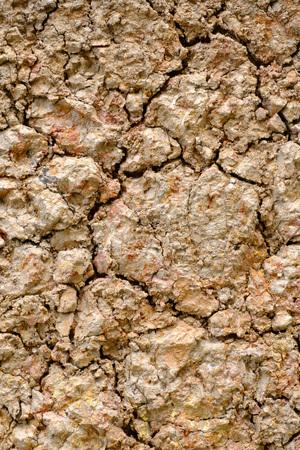 ácido: superficie de los suelos sulfatados ácidos Foto de archivo
